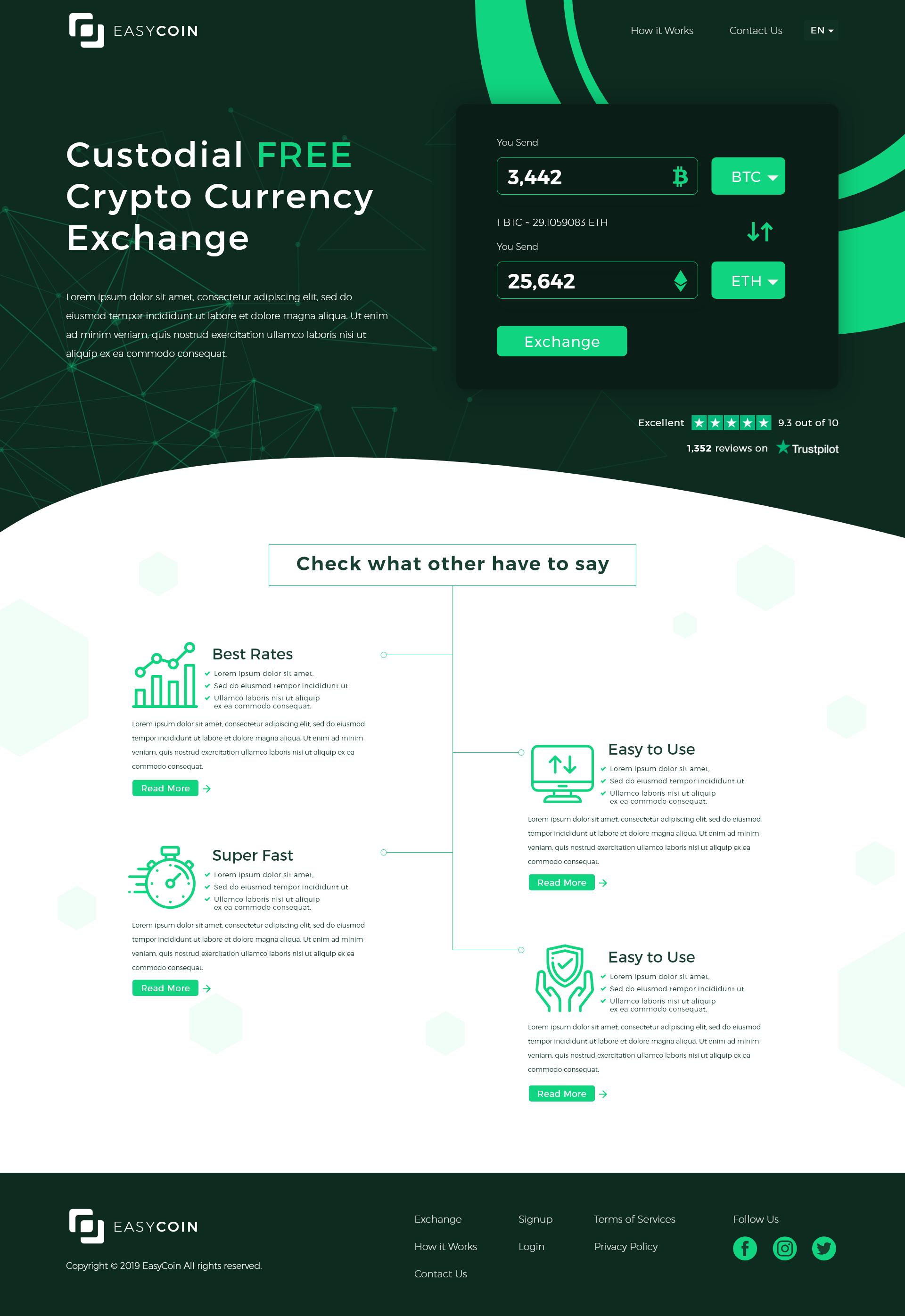 easy coin web design