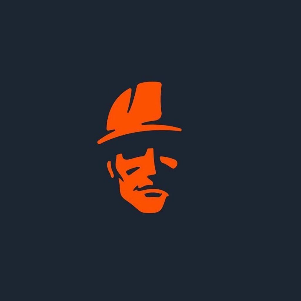 man with a helmet construction worker logo