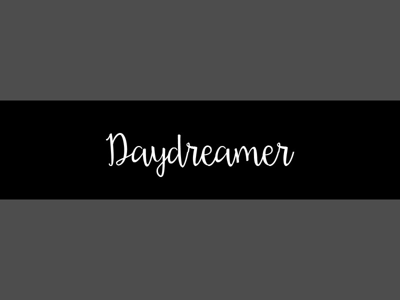 daydreamer handwritting font