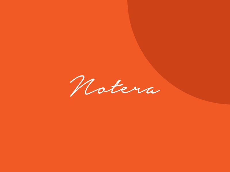Notera handwritting font example