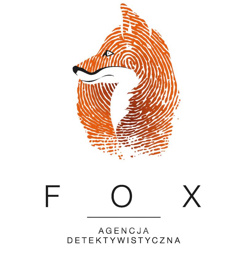 fingerprint fox mascot logo for detective agency