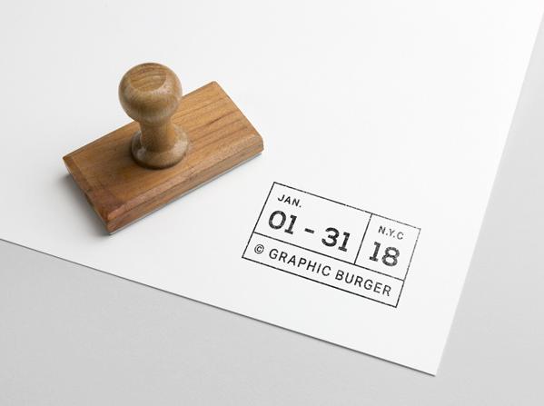 stamp business card mockup