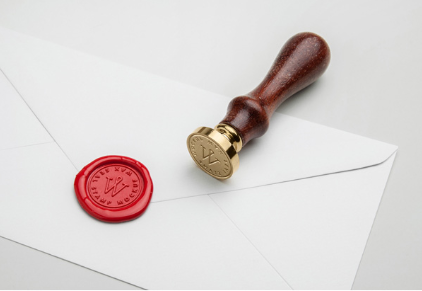 wax stamp psd mockup
