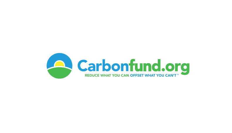 carbon fund blue and green logo