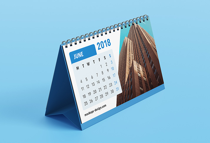 mockup of desk calendar