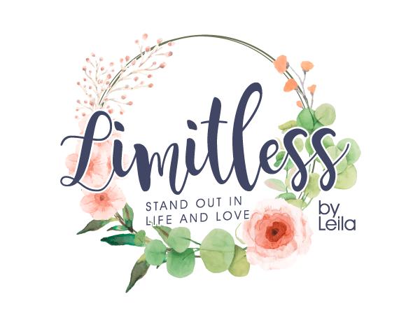 limitless flower motive feminine logo