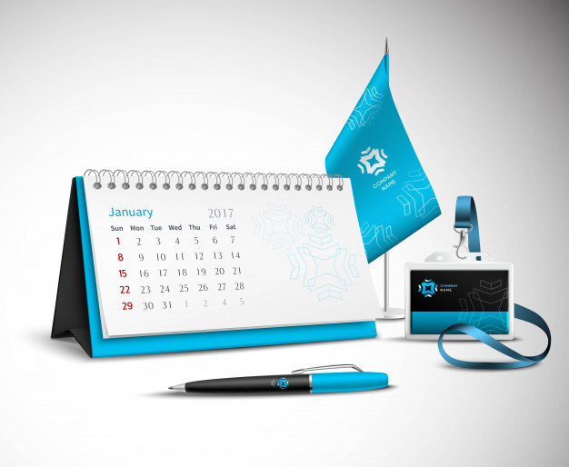 corporate identity psd calendar mockups