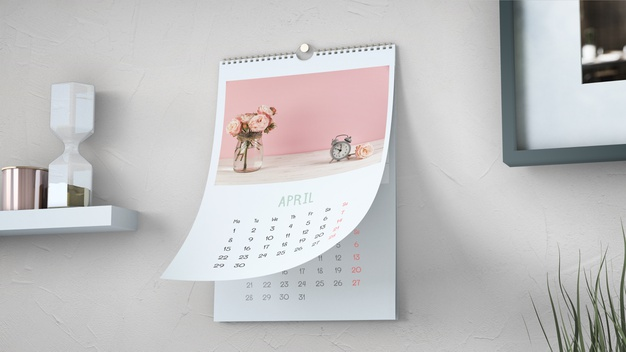 decorative wall calendar mockup