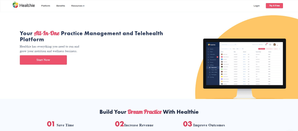 Healthie Design by Inkyy Website Design Studios