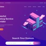 web hosting website adobe xd UI kit