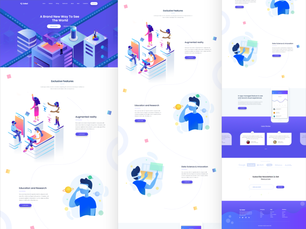 VR Startup Landing Page Template
