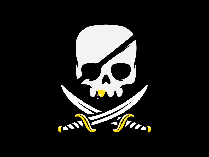 undead pirate treasure hunter logo