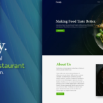 foody restaurant food website design template