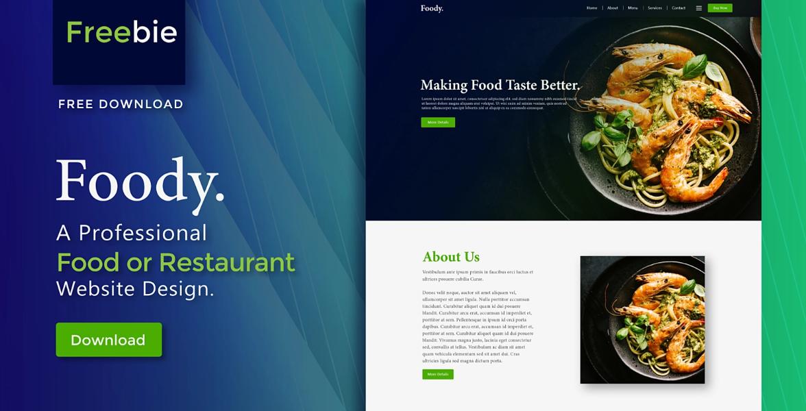 foody restaurant food website design template