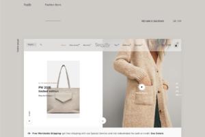 fashion store e-commerce website adobe XD template