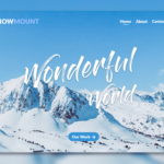 snow mount travel landing page template