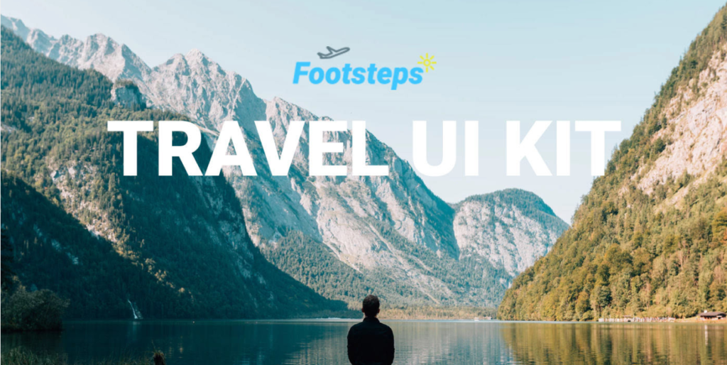 free travel website UI kit