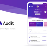 audit finance mobile app xd kit