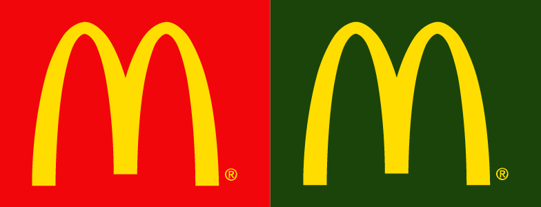 mcdonalds logo color change