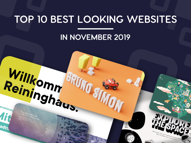 best looking websites in november 2019