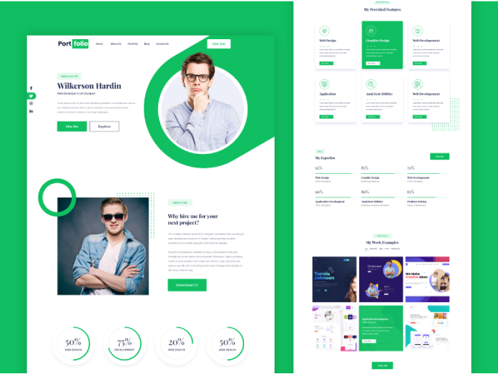 one-pager website presentation