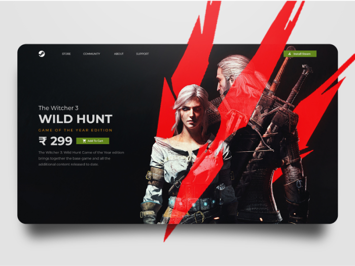 outside the box witcher 3 website design