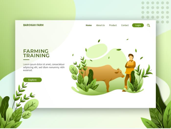 organic nature inspired web presentation