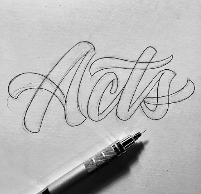 Hand Drawn Logo Sketch Presentation