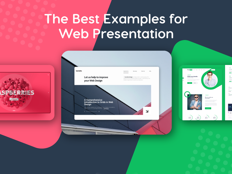 the best web design presentation examples