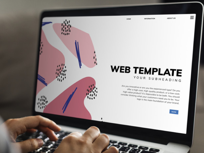 Laptop Mockup with website template