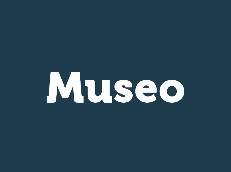 Museo Serif Font Example