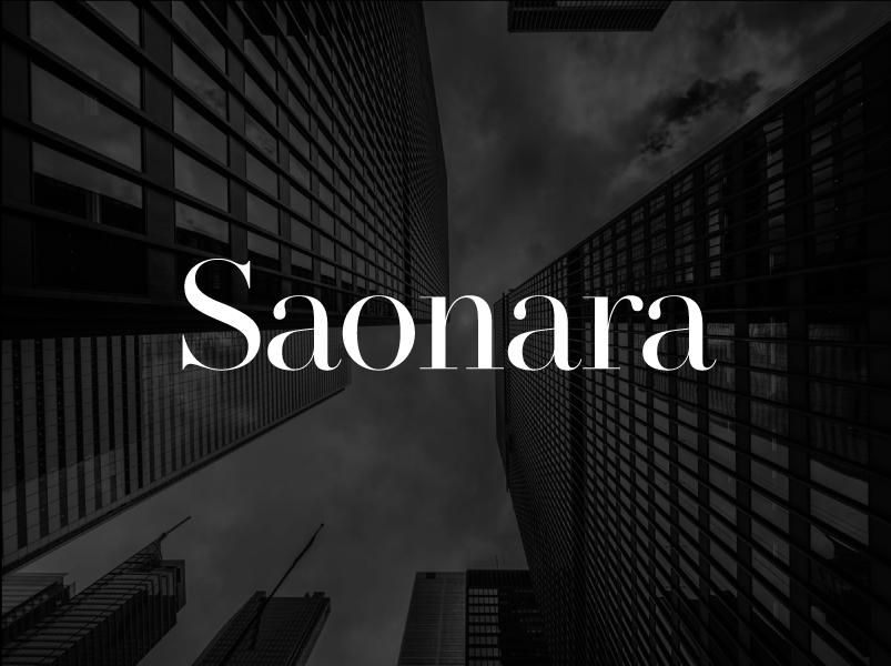 Saonara Serif Font Example