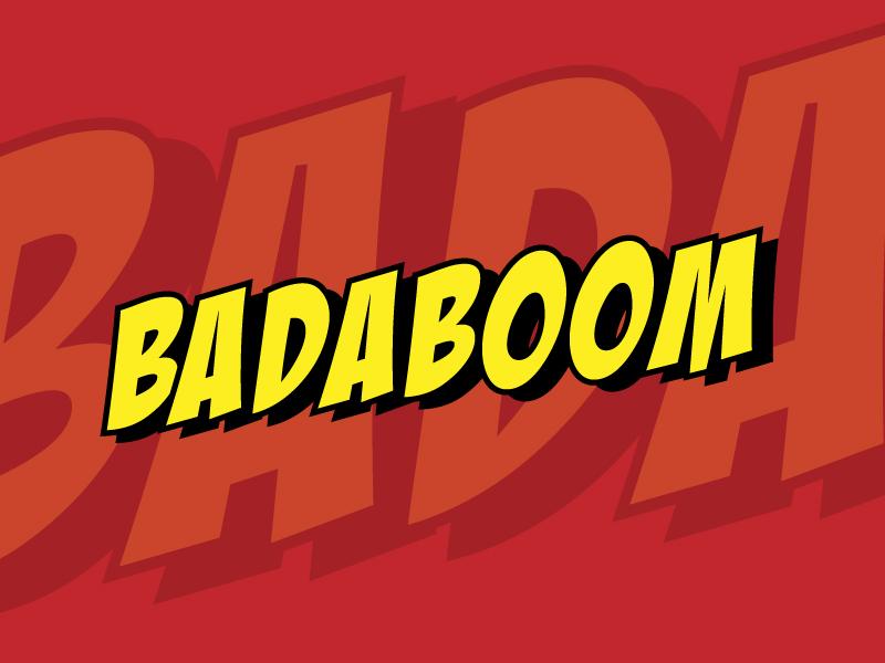 badaboom comic font example