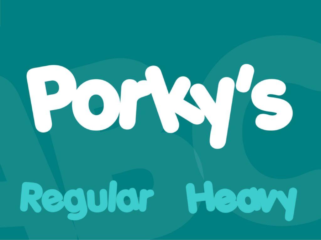 porkys comic font round bold