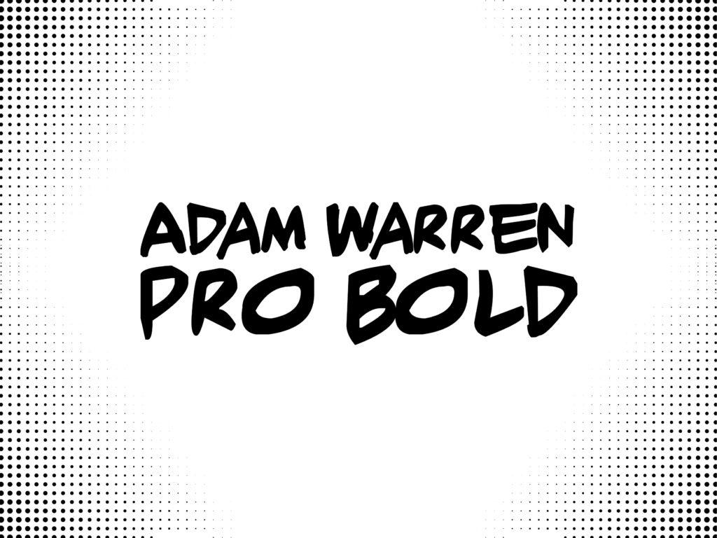 adam warren pro bold