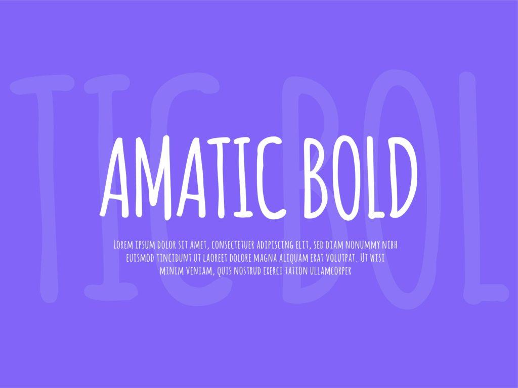 amatic bold free font