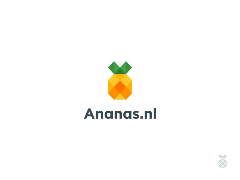 minimalist low poly pineapple logo