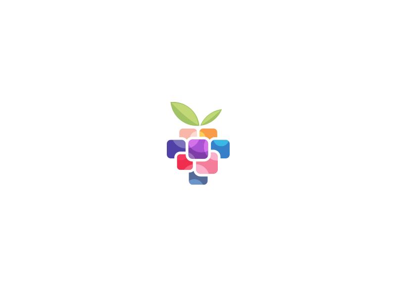 minimalist berry logo