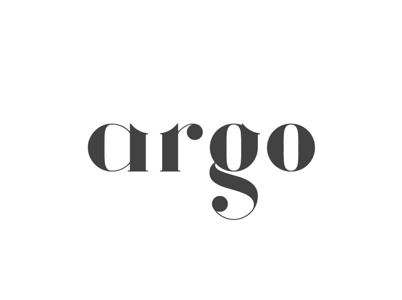 argo serif style font