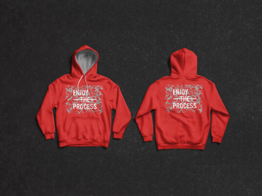 Fully Layered Front and Back Hoodie Mockup