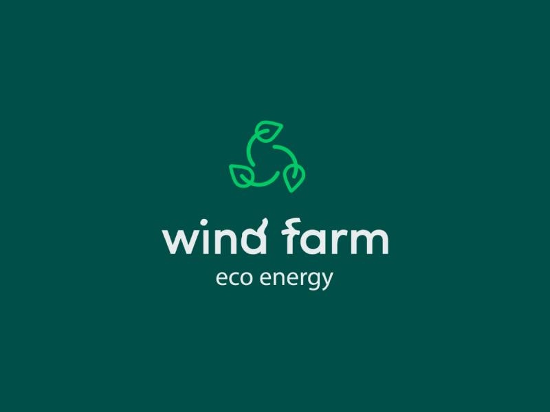 wind farm green energy logo