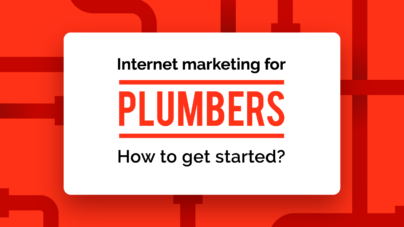 Marketing for plumbers banner