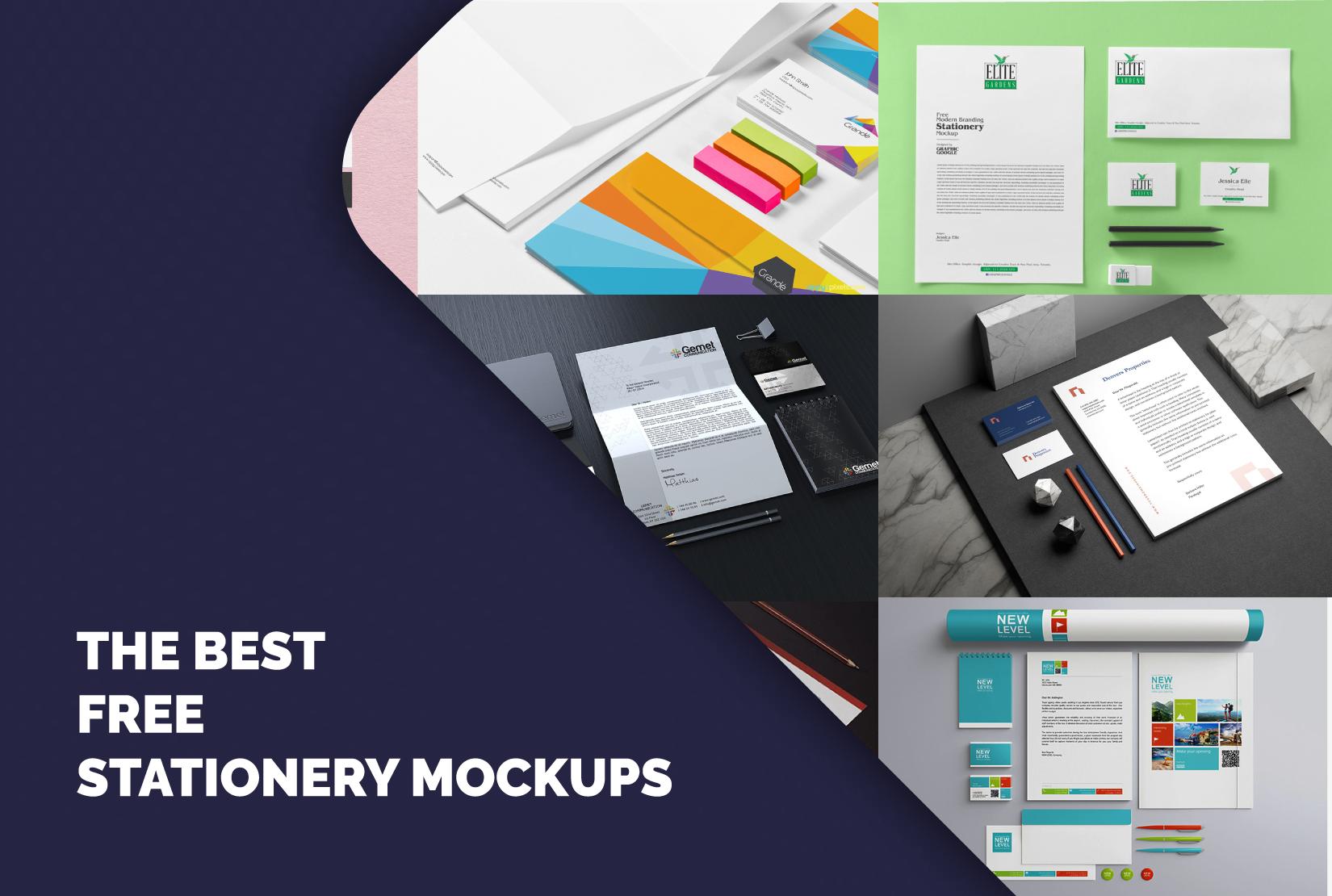 Free download Stationery Mockup