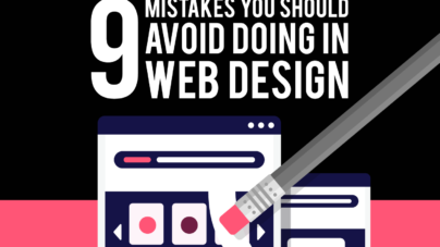 9 Mistakes that you should avoid doing in web design by Inkyy Web Design Studio