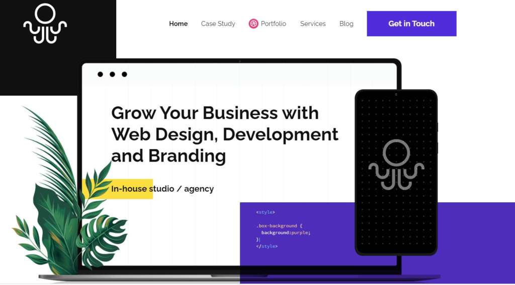 Inkyy Web Design Studio Homepage Following Modern Desing Trends