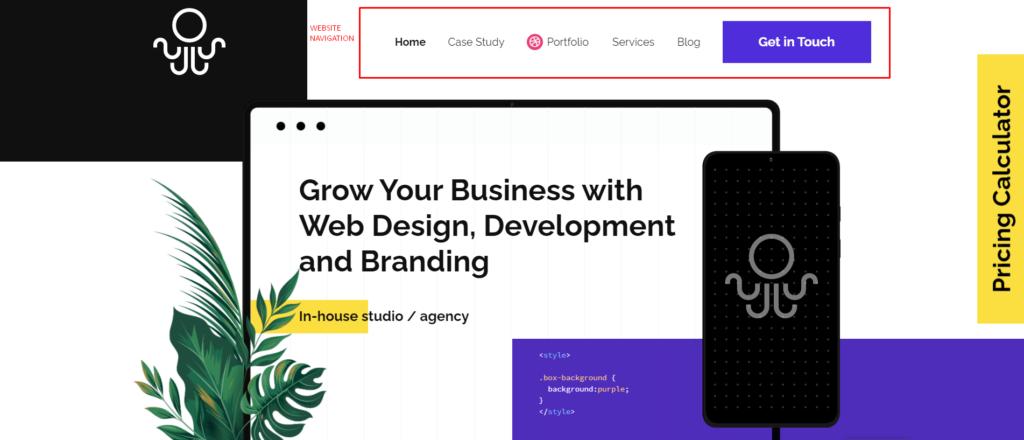 Proper Navigation For Website - Inkyy Website Design Studio