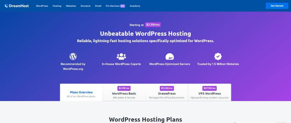 DreamHost - Top 5 Hosting Websites - Inkyy Web Design Blog