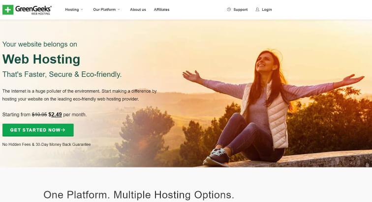 GreenHosting - Top 5 Hosting Websites - Inkyy Web Design Blog