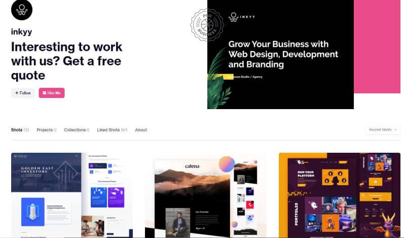 Inkyy Web Design Studio - Portfolio for Example - Plumbing Business - Inkyy Design