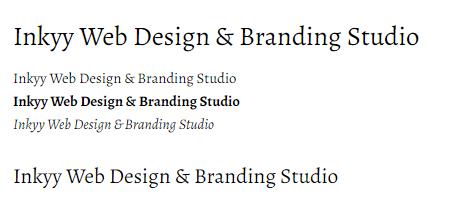 Alegreya - Beautiful Fonts for Web Design - Inkyy Web Desing Studio